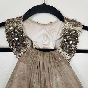 Alberto Makali jeweled neck, 100% silk gown, 6